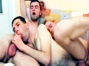 Watch this lucky dude in a very hot gay anal