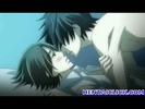 Anime gay kissing an..