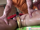 Guy gets dick oiled ..