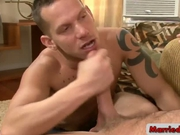 Tatooed guy sucking nice cock by marriedbf
