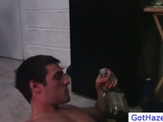 Dude gets hazed by group of drunk guys