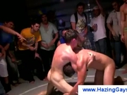 Gays wrestle naked during hazing ritual