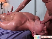 Dylan gets oiled and prepped for massage 4