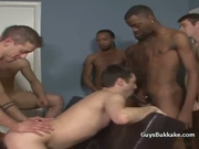 Great interracial group fucking.