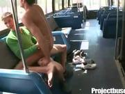 Horny Latino Rides Cock on Public Bus