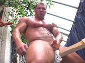 Muscular Construction Worker Jerking Off