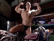Biker Muscle Man Masturbates