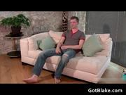 Nick L jerking off on a sofa