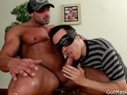 Muscled stud gets his amazing penis