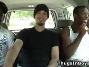 Cute white guy in hardcore interracial