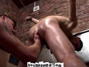 Aiden Jason Ass Play Inside Urinal Room