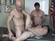 Hairy Guy Gets Plugged Up on Both Ends