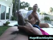 guy feels the pain of big cock