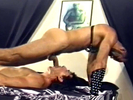 Slave sucks cock