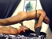 Slave sucks cock
