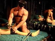 Bodybuilder CBT session with college stud.