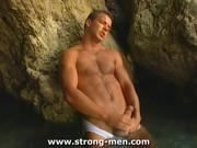 Muscle Hunk Uncut Masturbation