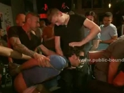 Gay cutie spanked by sex masters
