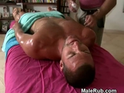 Massage Table Oiled Up Handjob
