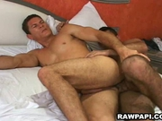 Hairy and horny Latinos packing fudge raw