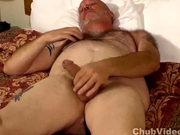 Hairy mature bear amateur masturbation video