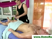Gay straight massage blowjob