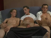 Three Students Masturbate Together