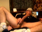 Mature Guy in Baseball Cap Masturbates