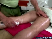 Straight guy turns during hot massage