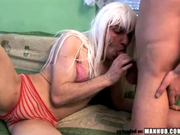 Funky Gaga Cross Dresser Takes Big Raw Cock