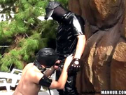 Masked dude breeds his gimp RAW