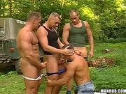 Muscle Lumber Jocks Outdoor Orgy NICE