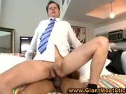 Interracial huge dick fucks old gay