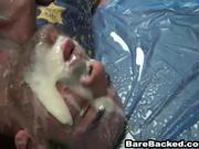 Bareback Butt Fuck with Felching Facial